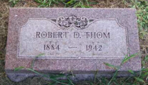 Robert D. Thom tombstone photo