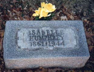 Isabelle Humphrey tombstone